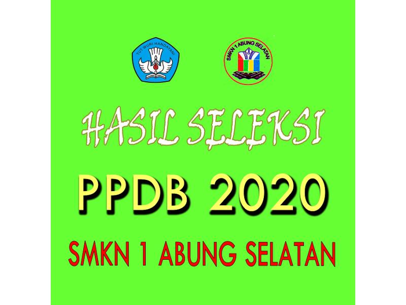 INFORMASI HASIL SELEKSI PPDB 2020
